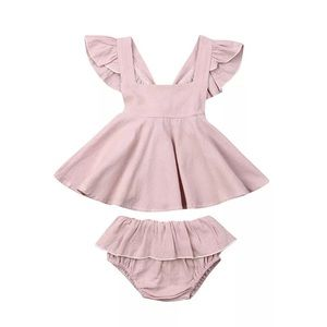Two Piece Light Pink Toddler Romper Size 24 Month